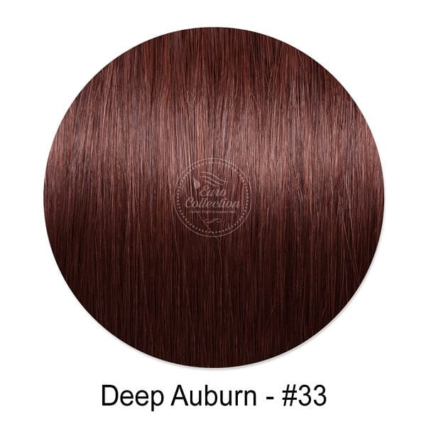 Deep Auburn color #33 Hair extensions. Tape in clipon hair