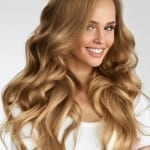 remy clip in hair extensions in #18 dark blonde hair color