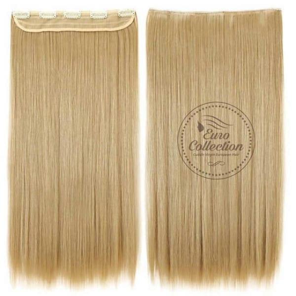Euro Straight Full Head Synthetic Hair Extensions Clip In In 25