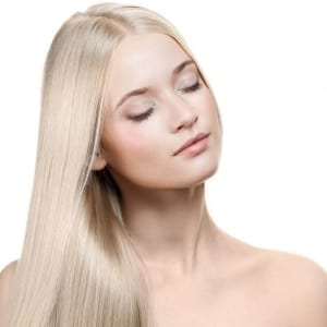 virgin remy clip in hair extensions in color #60 Platinum Ash Blonde hair