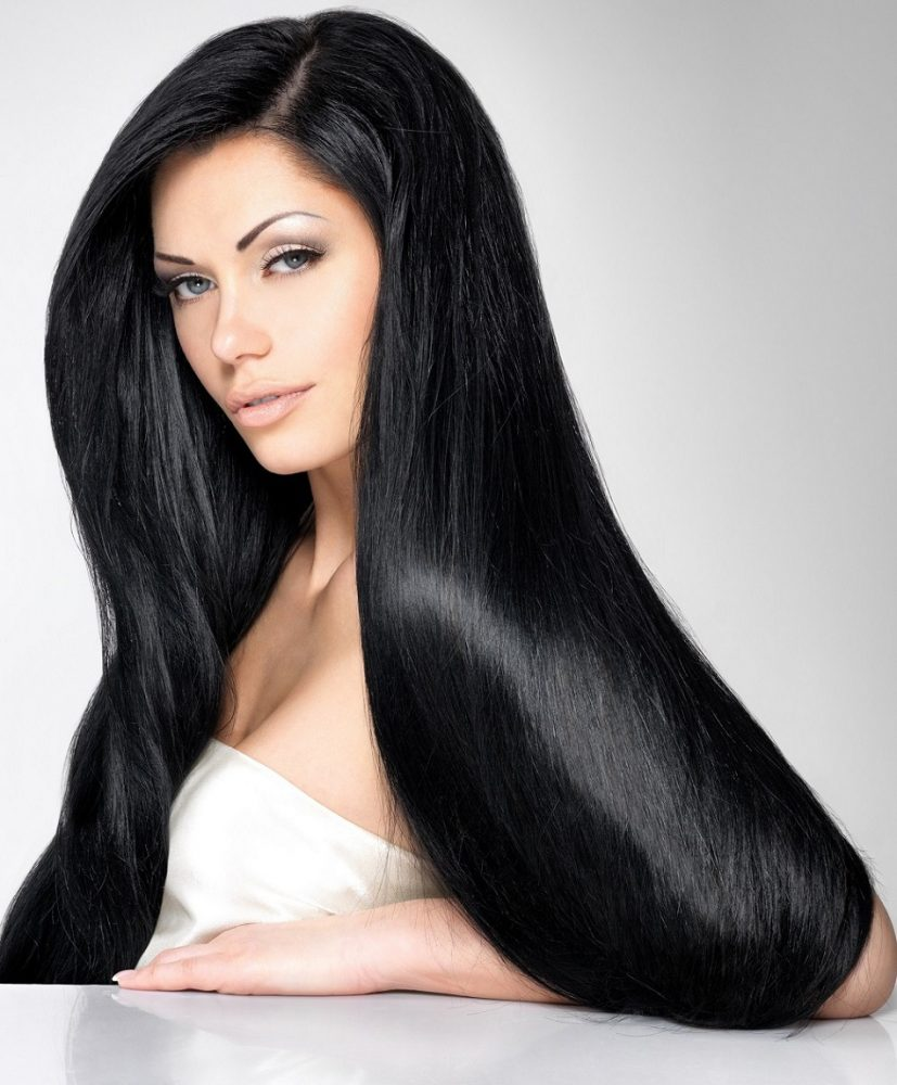 pure noirette 1 jet black clip in hair extensions