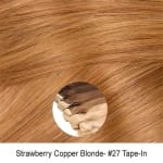 Copper Blonde Virgin Remy Seamless Tape In Hair Extensions Color 27