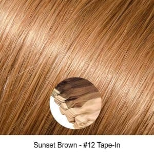 Light Golden Ash Brown Virgin Remy Seamless Tape In Hair Extensions Color 12