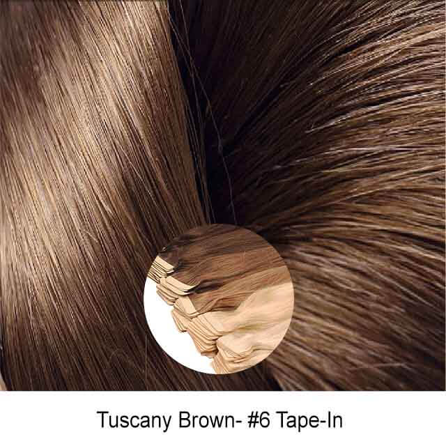 Tuscany Brown #6 Tape In