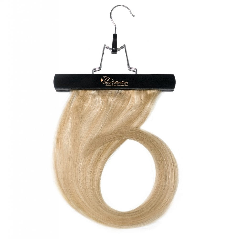 Euro Collection Hair On Hanger Curled hair extension storage bag