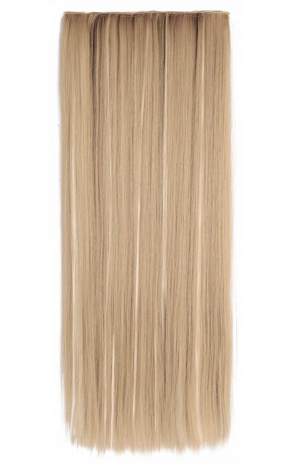 Euro Straight Full Head Synthetic Hair Extensions Clip In In 27