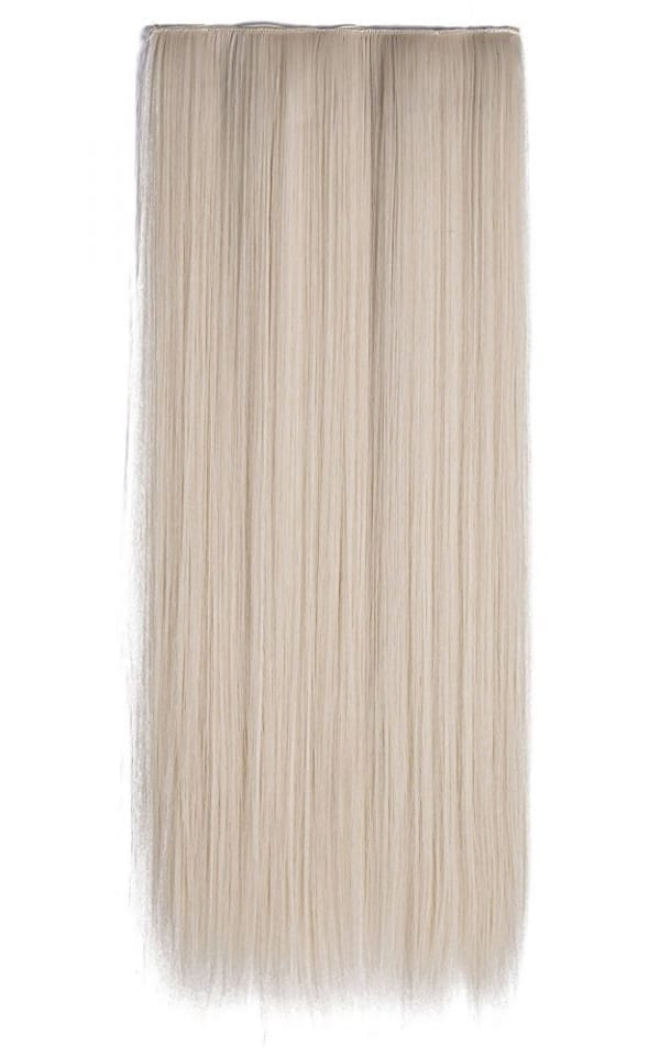 Euro Straight Full Head Synthetic Hair Extensions Clip In 60