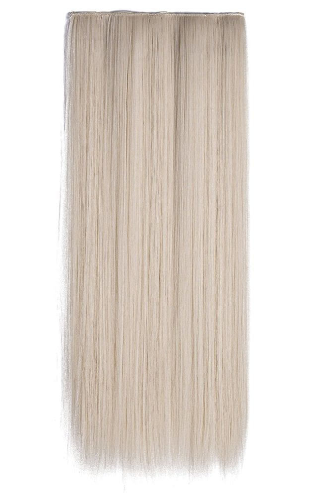 Euro Collection Straight Full Head Synthetic Hair Extensions Clip-In Clip-on in color 60 Platinum Blonde 100{36e649cd2213f9c5bec6c8d5237ebca41fba04111c1d2c771eebf5d7d020db7b} Korea and Japanese High Quality Synthetic Heat-Resisting Fiber